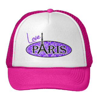 Añil, damasco púrpura; París; Torre Eiffel Gorras De Camionero