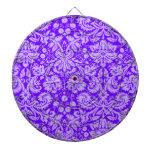 Añil, damasco púrpura tablero de dardos