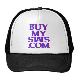 añil del logotipo de BuyMyStats.com 3D con la somb Gorras De Camionero