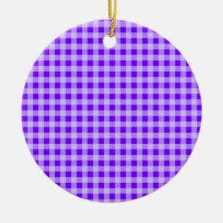 Añil, guinga púrpura adornos