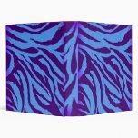Añil llano/carpeta azul del estampado de zebra