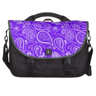 Añil, Paisley púrpura; Floral Bolsa De Ordenador