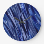 Añil y rayas azules violetas del estilo del satén relojes