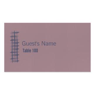 Añil y tarjeta azules 3 del lugar de Woodrose Tarjetas De Visita