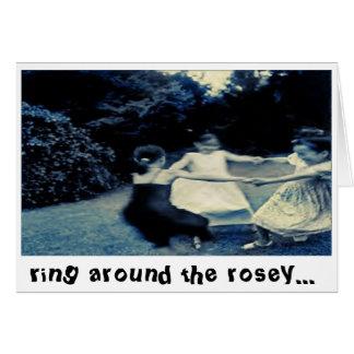 anillo alrededor de la tarjeta del rosey