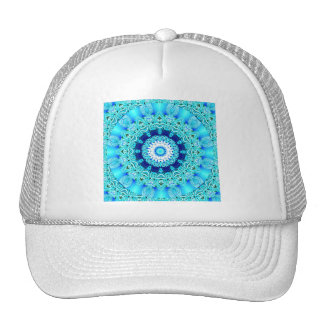 Anillo azul del ángel del hielo, mandala abstracta gorras