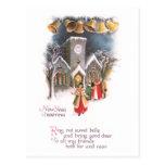 Anillo de Belces en el vintage del Año Nuevo Postales