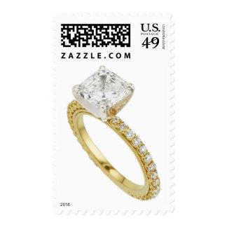 Anillo de bodas del compromiso del diamante sello