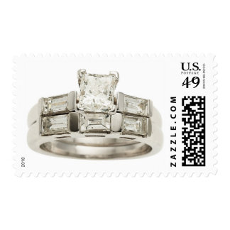 Anillo de bodas del compromiso del diamante sellos