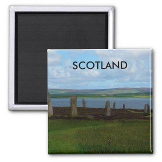 Anillo de Brodgar - Escocia Imán Cuadrado