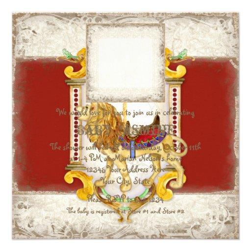 Anillo de cobre amarillo del león del rugido, vint invitación personalizada