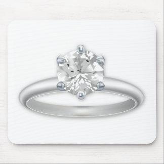 Anillo de diamante Bling Clipart Mousepad