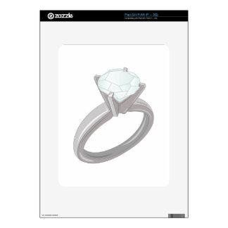 Anillo de diamante calcomanías para el iPad
