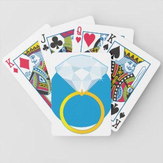 Anillo de diamante cartas de juego