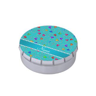 Anillo de diamante conocido personalizado del arco latas de caramelos