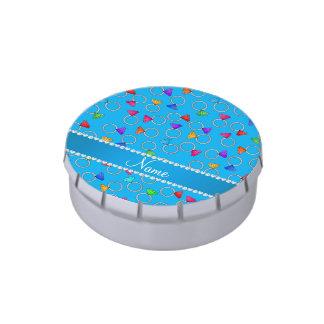 Anillo de diamante conocido personalizado del arco latas de dulces