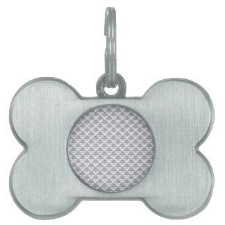 Anillo de diamante del platino placas de mascota