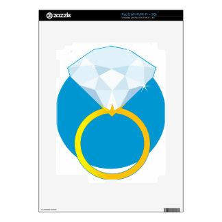 Anillo de diamante iPad 2 skins