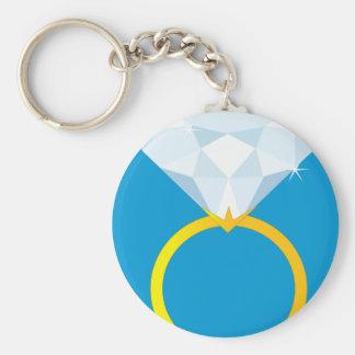 Anillo de diamante llavero redondo tipo pin