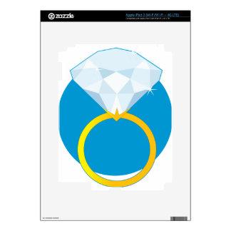 Anillo de diamante pegatina skin para iPad 3