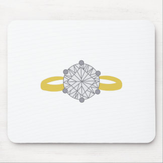 Anillo de diamante alfombrilla de raton