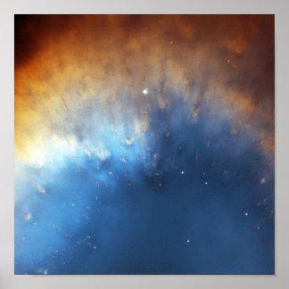 Anillo de gas de la nebulosa de la hélice poster