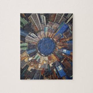 Anillo de la escena de la ciudad puzzle