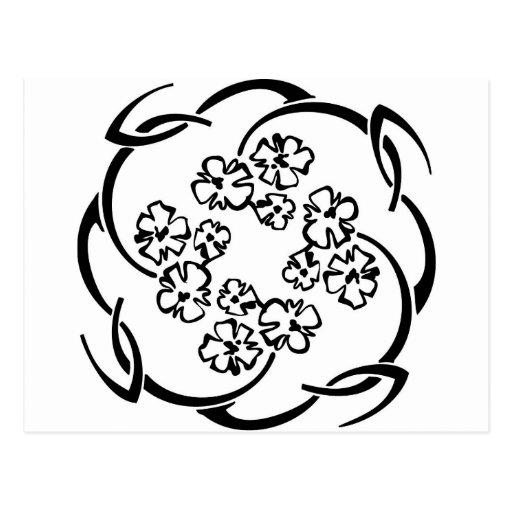 Anillo de la flor tarjetas postales