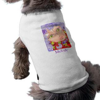 Anillo de la lila de la melodía/camisa del mascota playera sin mangas para perro