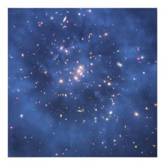 Anillo de la materia oscura en un racimo de la gal impresion fotografica