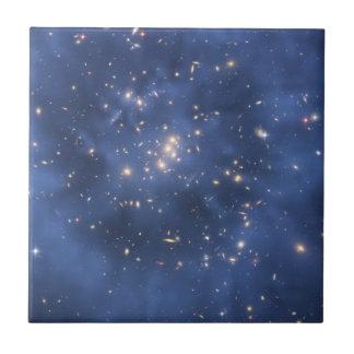 Anillo de la materia oscura y racimo de la galaxia teja cerámica