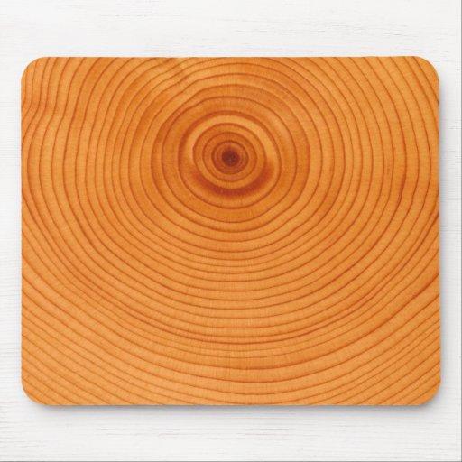Anillo de madera, sección representativa del árbol mouse pads