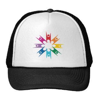 Anillo del arco iris de humanistas gorras
