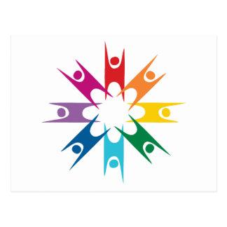 Anillo del arco iris de humanistas tarjetas postales