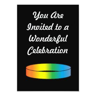 "Anillo del arco iris invitación 5"" x 7"""