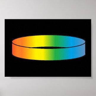 Anillo del arco iris póster