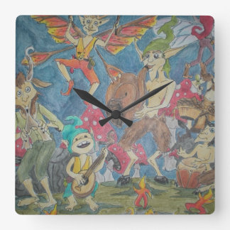 Anillo del Faerie Reloj De Pared