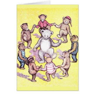Anillo del juego de los osos de peluche alrededor  tarjeta