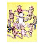 Anillo del juego de los osos de peluche alrededor  tarjetas postales