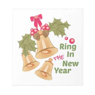 Anillo en Año Nuevo Bloc De Notas