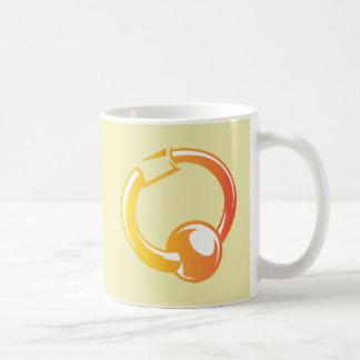 Anillo Piercing - moda del estallido del anillo de Taza De Café