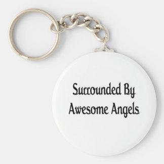 Anillo por ángeles impresionantes llaveros personalizados