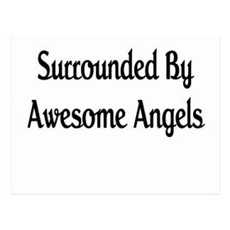 Anillo por ángeles impresionantes postal