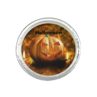 Anillo redondo de Halloween de la calabaza