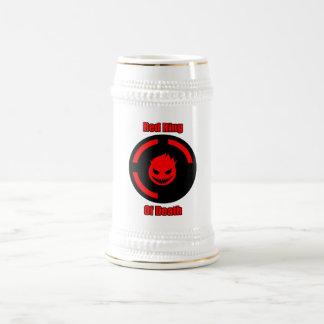 Anillo rojo de la muerte jarra de cerveza