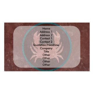 Anillo rojo del azul del cangrejo tarjetas de visita