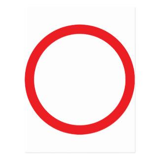 anillo rojo del círculo postal