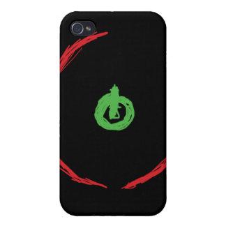 Anillo rojo del videojuego i de la muerte iPhone 4 funda
