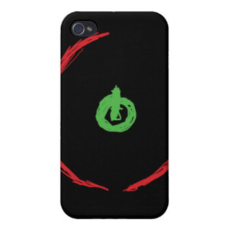 Anillo rojo del videojuego i de la muerte iPhone 4 fundas