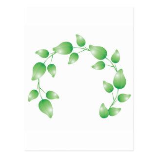 Anillo verde de la guirnalda de la hoja postales